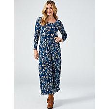 Kim & Co Printed Brazil Jersey Long Sleeve Maxi Dress