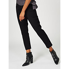 Isaac Mizrahi Live 24/7 Stretch Ankle Length Slim Trousers With Pockets