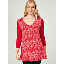 Together Burnout Layer Tunic