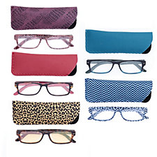 Outlet Set of 5 Reading Glasses 1 Pair of Computer Glasses