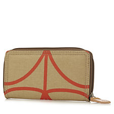 Orla Kiely Giant Linear Stem Big Zip Wallet