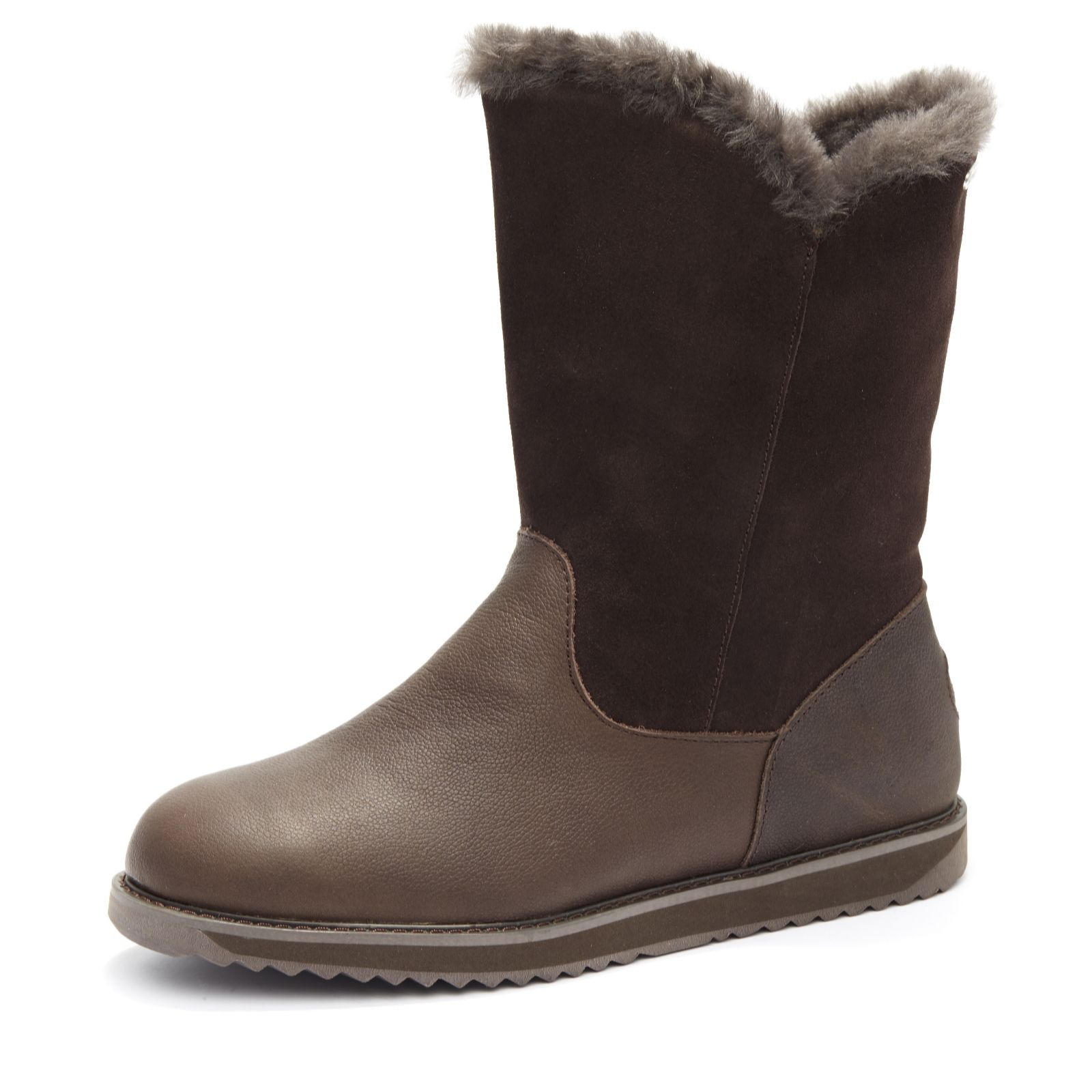 famous brand closer at offer discounts Emu All Weather Latrobe Leather & Suede Zip Mid Length Boot - QVC UK