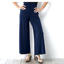 Kim & Co Stretch Crepe Wide Waistband Petite Trouser