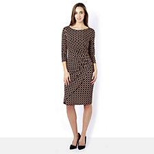 Eve 3/4 Sleeve Teardrop Print Dress by Onjenu London