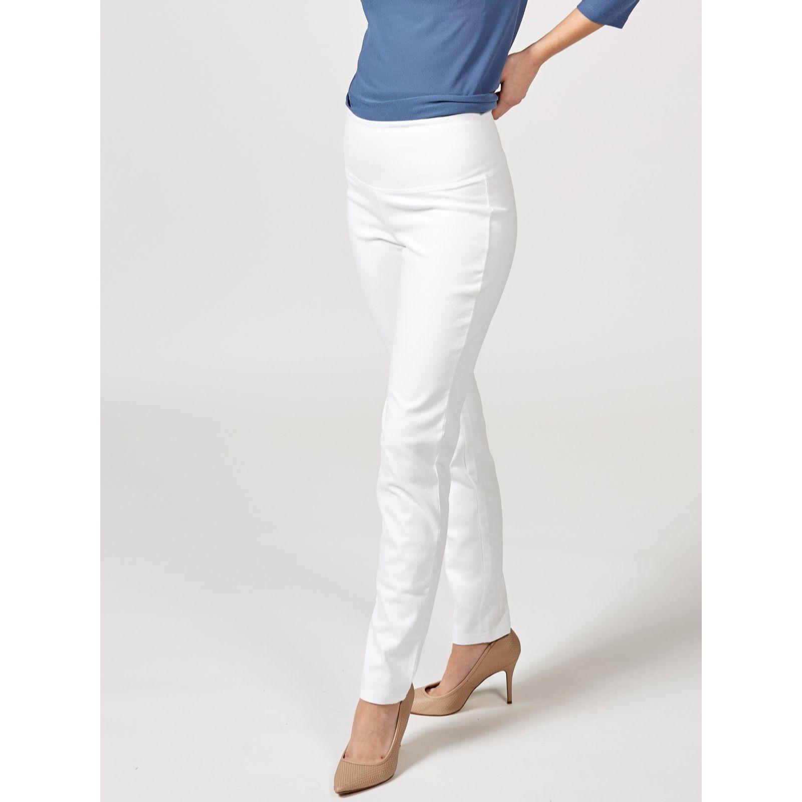 65a06a2fac Women with Control Tummy Control Prime Stretch Denim Regular Ankle Trouser  - QVC UK