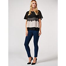 Together Lace Woven Panel Top
