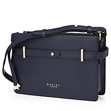 Radley London South Grove Small Leather Zip Top Crossbody Bag