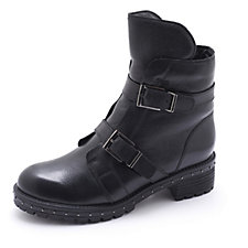 Bronx Double Buckle Boot with Faux Fur Trim