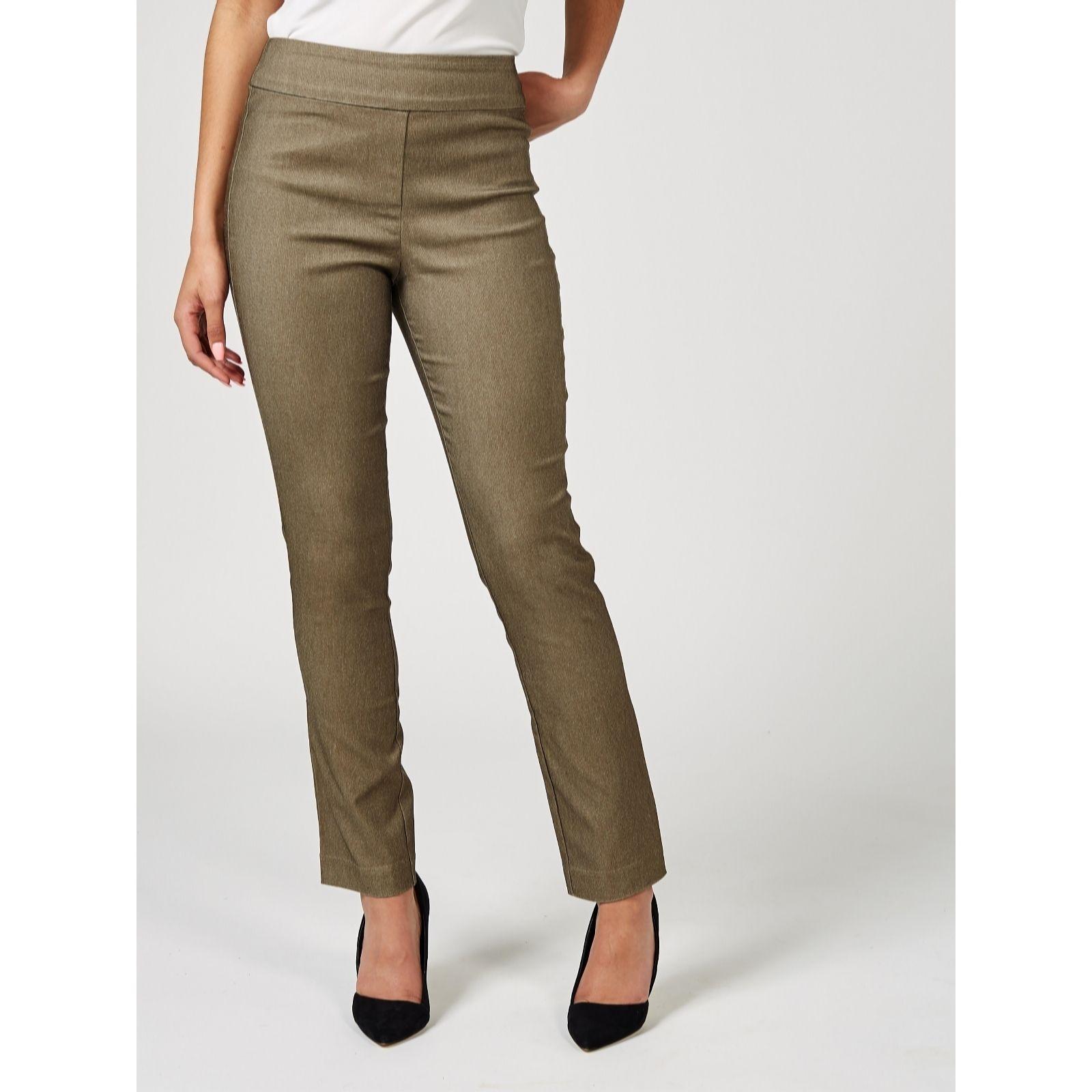 Marlawynne Cross Dyed Mesh Panel Straight Leg 32 Length Trouser