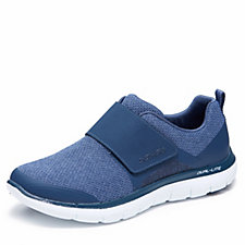 Skechers Flex Appeal Step Forward Heathered Mesh Strap Slip On Shoe