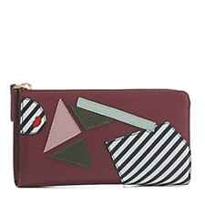 Lulu Guinness Leather Pop Out Girl Continental Wallet