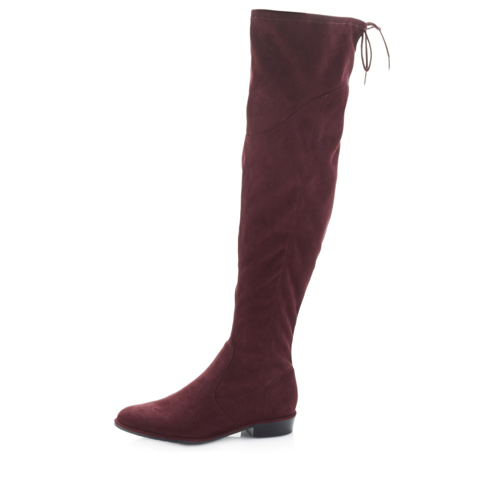 4888745cd4a Marc Fisher Hulle Over The Knee Fabric Boot with Flat Heel - QVC UK