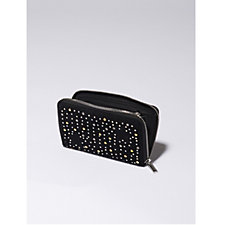 Amanda Lamb Suede Leather Star Stud Wallet