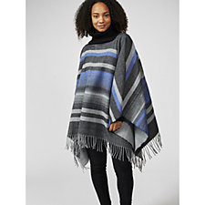 Vince Camuto Stripe Cowl High Neck Poncho