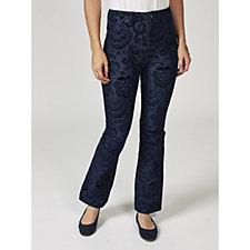 Nick Verreos Flock Print Denim Trousers