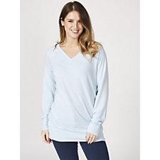 Ruth Langsford V Neck Long Sleeve Knitted Sweatshirt