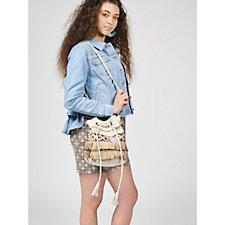 Pia Rossini Toledo Tassel Bucket Bag