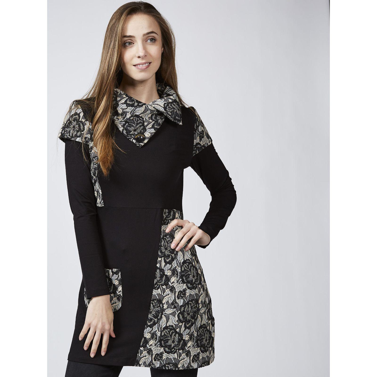 Black NEW JOE BROWNS Perfection Tunic Dress Size UK 16 Navy