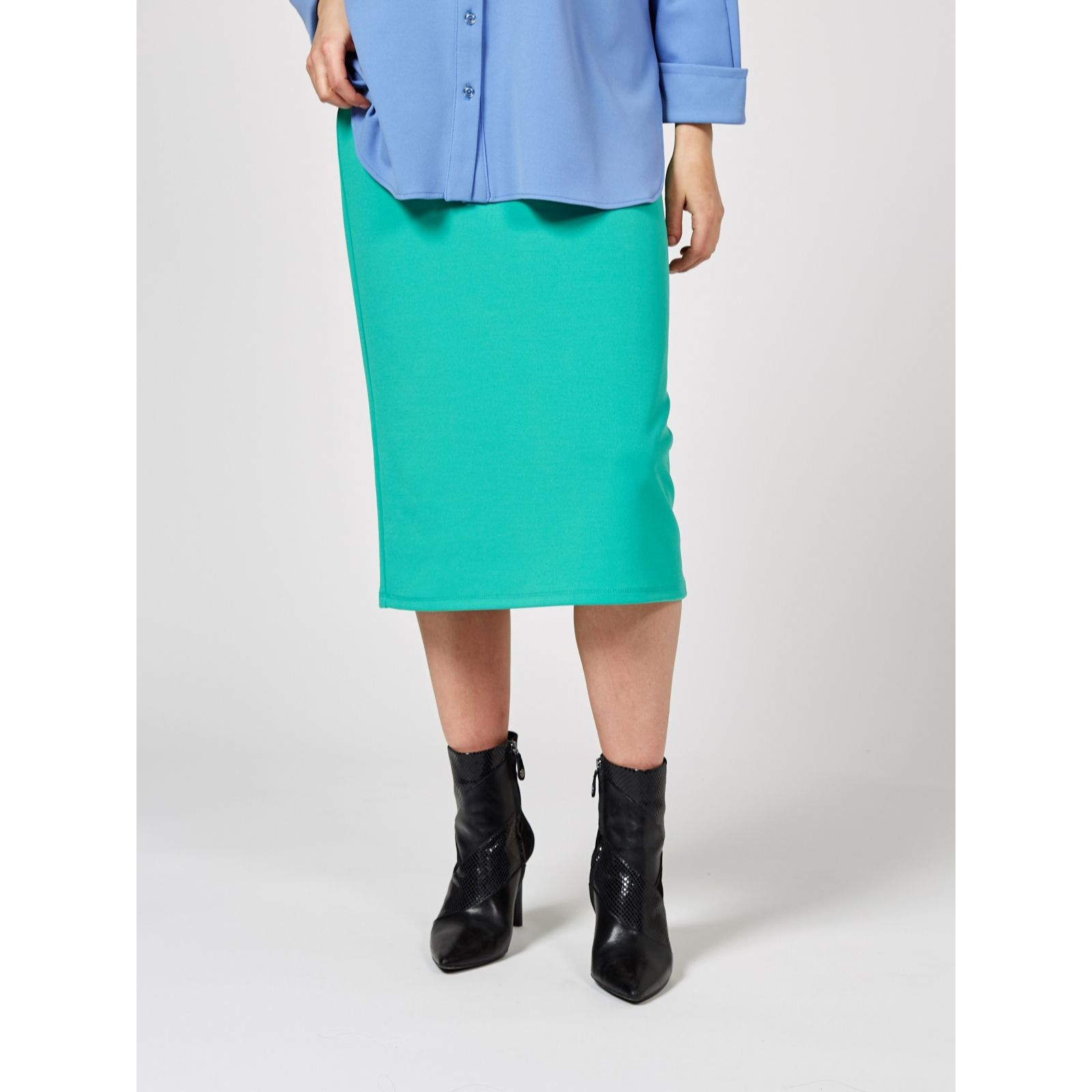 debe282ae5 Ben de Lisi Jersey Pencil Skirt - QVC UK