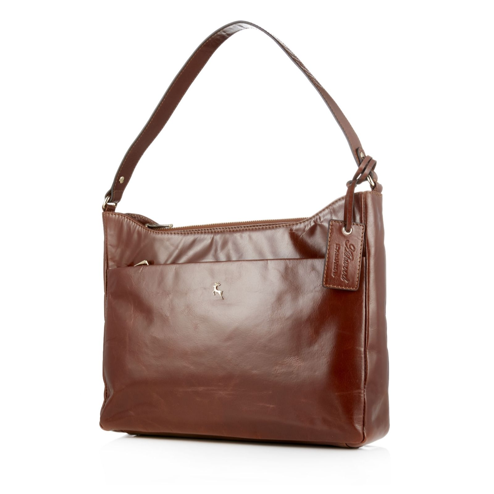 b3dab0a34ffe Ashwood Leather Structured Shoulder Bag - QVC UK