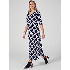 Ronni Nicole Printed Faux Wrap Maxi Dress