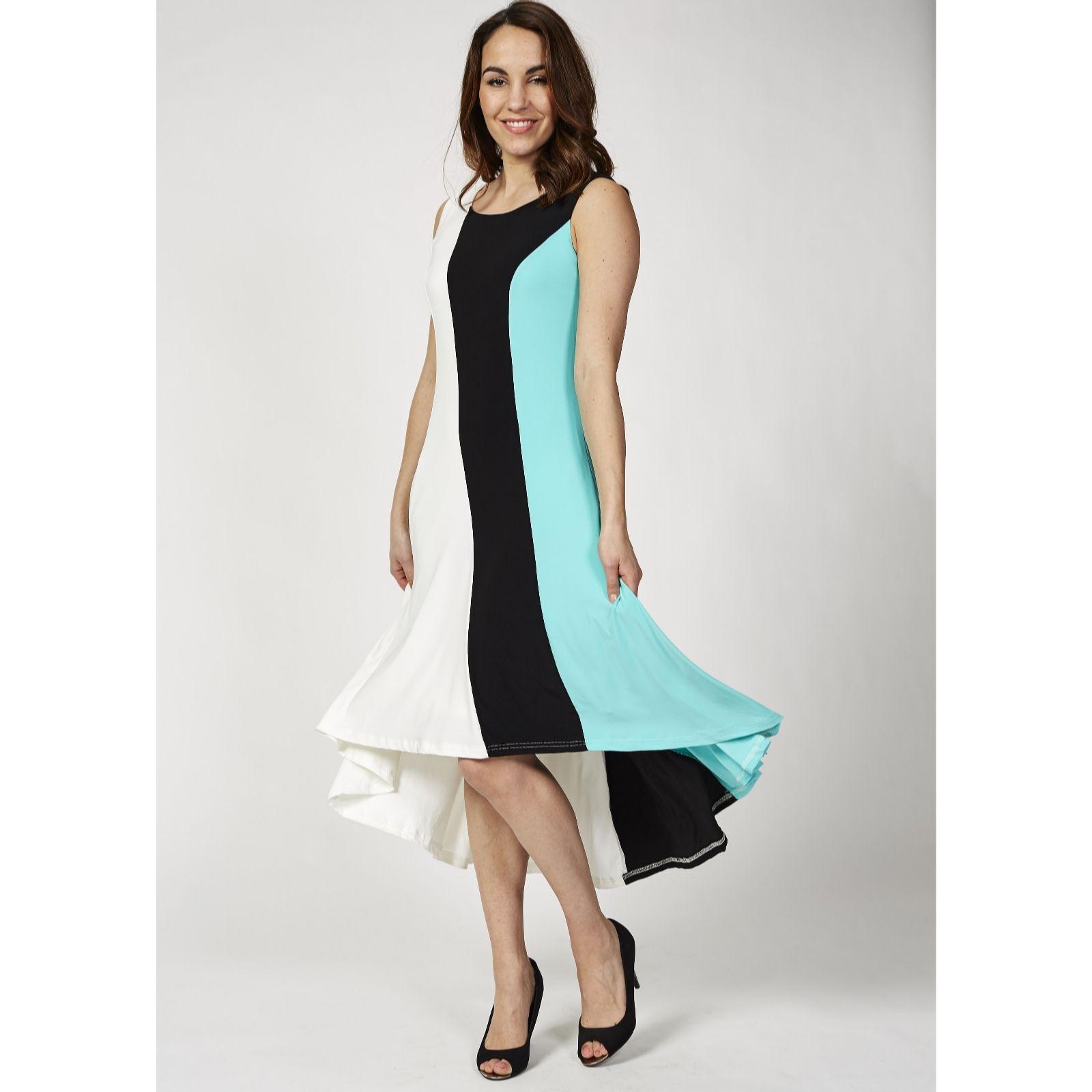 2fe8c8e5186 Sleeveless Hi Low Hem Maxi Dress by Nina Leonard - QVC UK