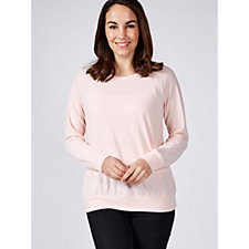 H by Halston French Terry Easy Crew Neck Sweatshirt