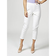 Isaac Mizrahi Live 24/7 Stretch Ankle Length Pull On Trousers Petite