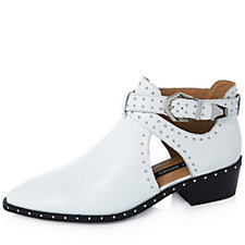 Bronx Leather Studded Open Cut Ankle Boot