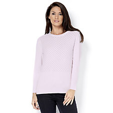 Marble Bubble Textured Jumper with Back Button Detail