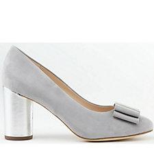 Peter Kaiser Osilia Suede Court Shoe with Bow Trim
