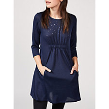 Grace 3/4 Sleeve Tunic Dress with Front Pockets