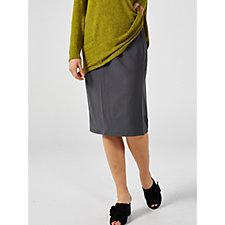 Kim & Co Ponte Crepe Knit 4 Panel Skirt