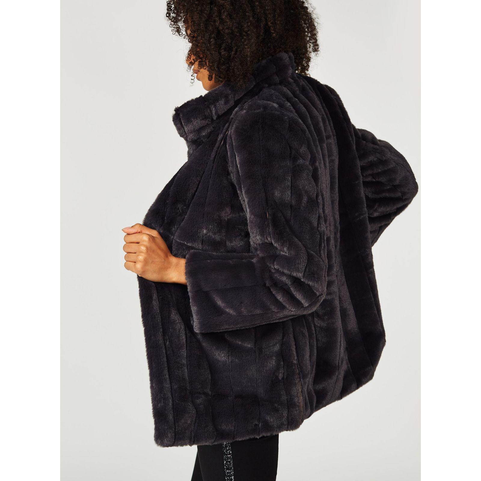 5e2b8c718c484 Centigrade Faux Fur Coat - QVC UK