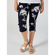 Mr Max Printed Modern Stretch Crop Trousers