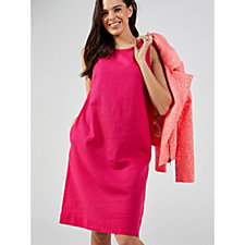 Ronni Nicole Sleeveless Linen Dress