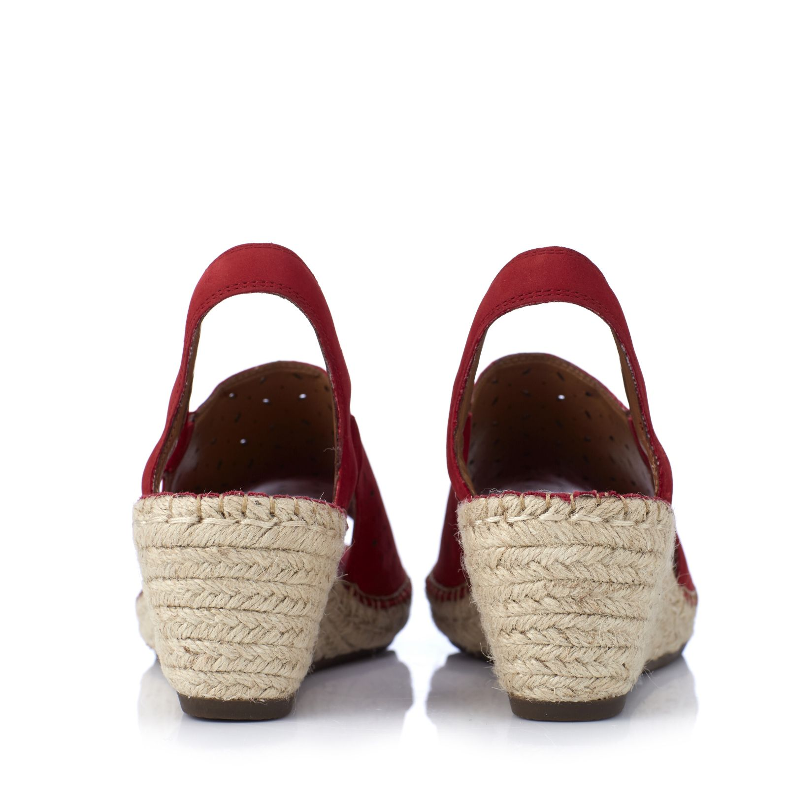 937db5bc9a4 Clarks Artisan Petrina Gail Leather Espadrille Wedge Sandal Standard Fit -  QVC UK