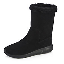 Skechers On The GO City 2 Suede Faux Fur Mid Calf Boots