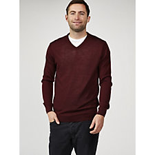 Dressage by Paul Costelloe Men's Merino Wool V Neck Sweater