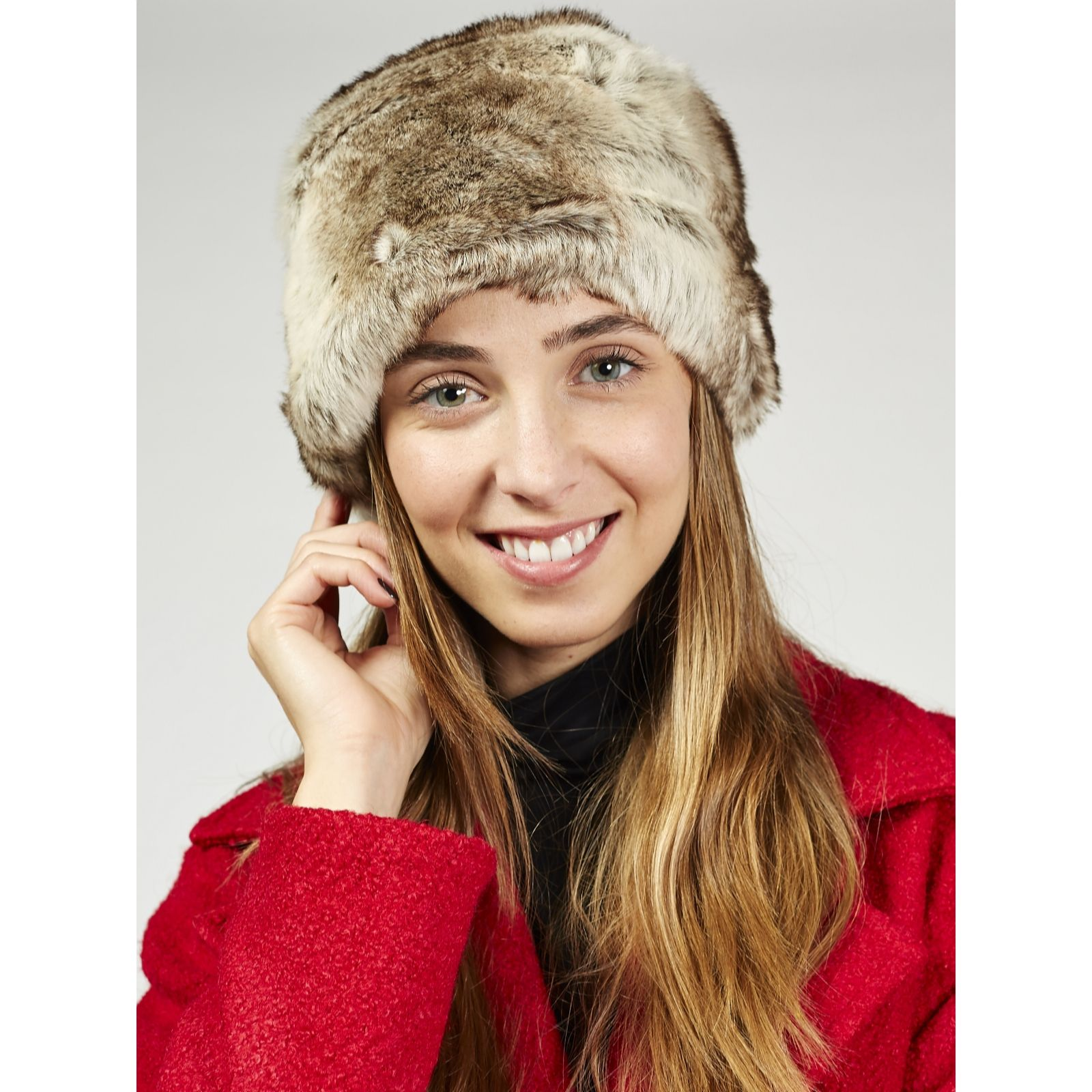 78e6b12a596 Pia Rossini Monroe Faux Fur Hat - QVC UK