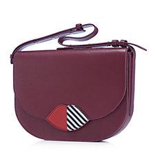Lulu Guinness Medium Rosie Grainy Leather 50:50 Lip Shoulder Bag