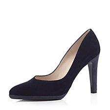 Peter Kaiser Herdi Suede Court Shoe with Contrast Heel