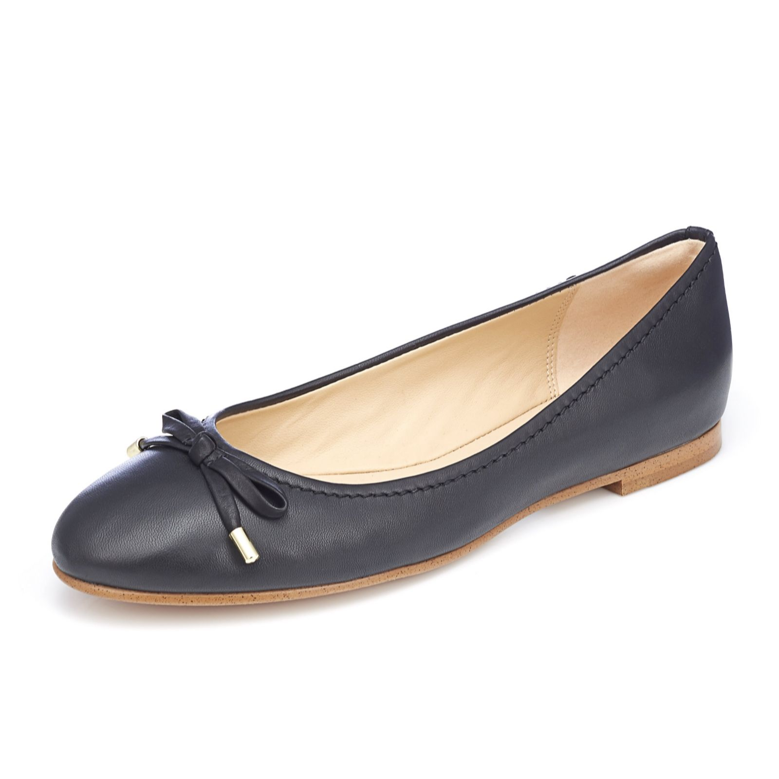 206a315614c0 Clarks Grace Lilly Ballerina with Bow Trim Standard Fit - QVC UK