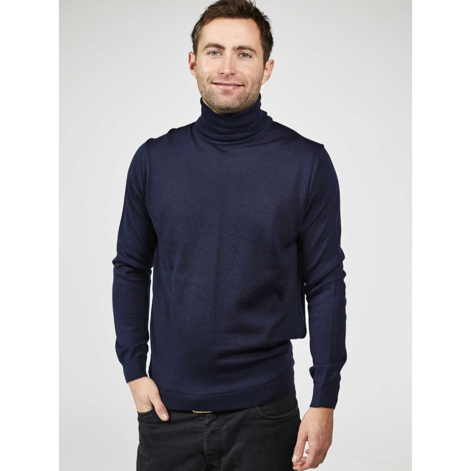 eb0a737e Dressage by Paul Costelloe Men's Merino Wool Roll Neck Sweater - QVC UK