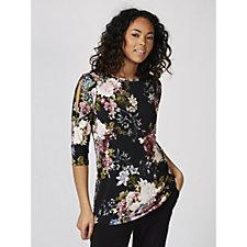 Kim & Co Brazil Knit Printed 3/4 Sleeve Tunic