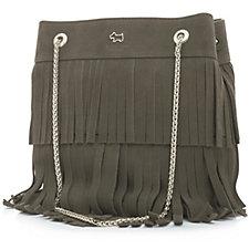 Radley London Bliss Cresent Small Leather Fringe Drawstring Multiway Bag