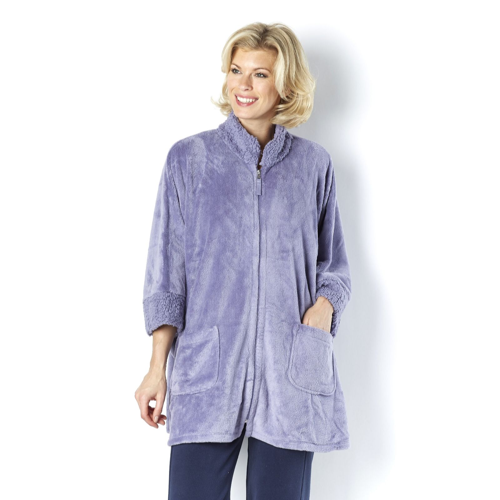 07078326cc6b9 Carole Hochman Cozy Zip Cape - Page 1 - QVC UK
