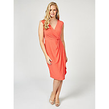 Nick Verreos Jersey Asymmetric Hem Dress