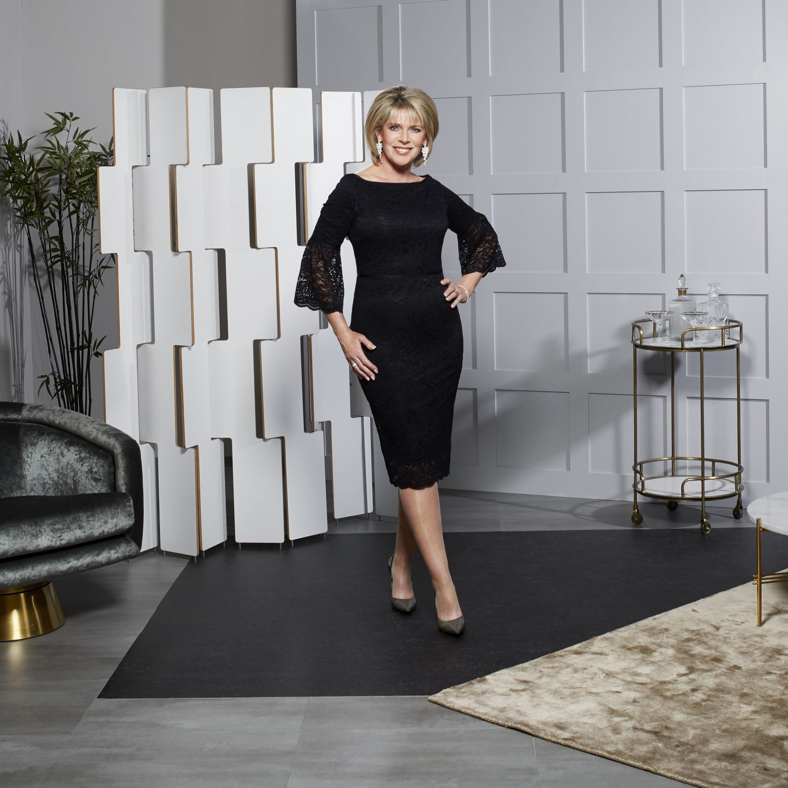 Ruth Langsford Fluted Sleeve Lace Dress - QVC UK fb67289bf