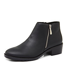 1debbf507c32 Emu Mid Rise Water Resistant Acton Leather Zip Ankle Boot
